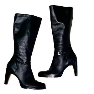 Enzo Angiolini tall leather boots sz 10 in black